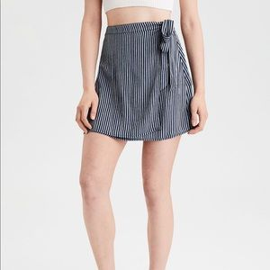 American Eagle High Waisted Tie Wrap Mini Skirt